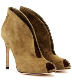 GIANVITO ROSSI Vamp suede peep-toe ankle boots $ 875 $ 612 | 30% off
