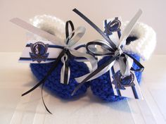 Dallas MAVERICKS Basketball Fans!! Handmade Baby Booties by ZZsTeamTime on Etsy