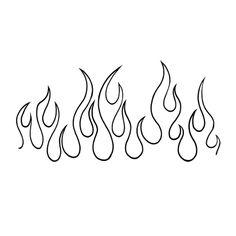 On Fire Tattoo - Semi-Permanent Tattoos by inkbox™ Kritzelei Tattoo, Tattoo Signs, Dice Tattoo, Fire Drawing, Shark Drawing, Flame Tattoos, Easy Tattoos, Retro Tattoos, Word Tattoos