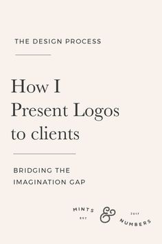 How I present logos to clients. Presenting logos can be a daunting task. Here are a few things I do to make the process smoother | brand and identity design | Graphic design