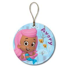 Personalized Bubble Guppies Molly And Little Fish Ornament, Multicolor Ornaments Image, Fish Ornaments, Christmas Ornaments, Bubble Guppies, Little Fish, Little Ones, Kid Character, Guppy, Personalized Ornaments