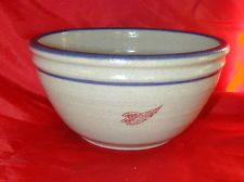 Red Wing Large Round Cherry Serving Bowl Crock Stoneware Pottery