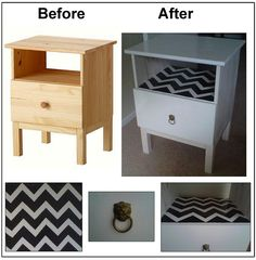 Ikea Tarva Night Stand Hack: Poorly executed, but could be cute!