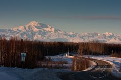 view of Mt McKinley. We are blessed to be able to see this alot during the winter months.