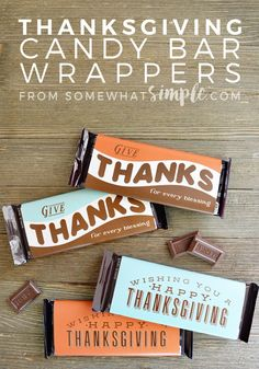 Today we're sharing a darling printable for you to make Thanksgiving Candy Bar Wrappers. They make a simple gift you can make in just minutes! Candy Bar Wrapper Template, Candy Bar Labels, Candy Bar Wrappers, Thanksgiving Parties, Thanksgiving Prayer, Thanksgiving Projects, Thanksgiving Appetizers, Thanksgiving Outfit, Thanksgiving Decorations