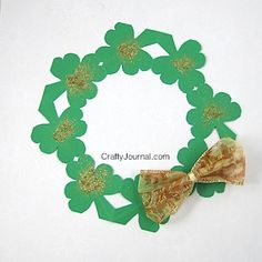 DIY easy shamrock wreath that can be used in many ways for St. Patrick's Day.