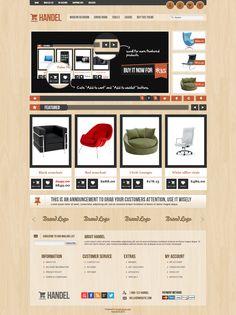 Handel - Unique & Modern OpenCart Template http://themeforest.net/item/handel-unique-modern-opencart-template/4218789?ref=wpaw #web #design #eshop