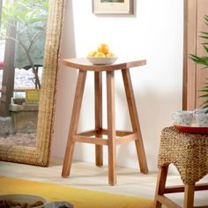 Hocker Teak finish Fudji Tikamoon
