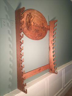 Wall mounted Rod rack with custom head board.