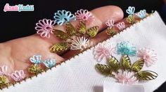 İğne Oyası Üçlü Çiçek Modeli Yapımı Anlatımlı Türkçe Videolu #elişi #örgü #moda