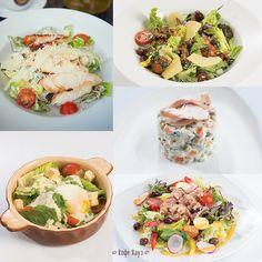Лето – время налегать на салатики! Какой вам нравится больше всего в Кофе Хауз?   Классический Салат «Цезарь» с курицей или креветками, аппетитный салат с тунцом, сытный Оливье с курицей или семгой, полезный Салат с яйцом-пашот или легкий Салат с овощами-гриль?   #салат #кофехауз #salad