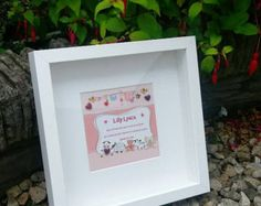 New Baby Personalised Framed Gift Owl by MarieDouglasDesigns