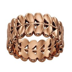 Orla Kiely Buddy Rose Gold Stem Ring - Size O * You can find out more details at the link of the image.