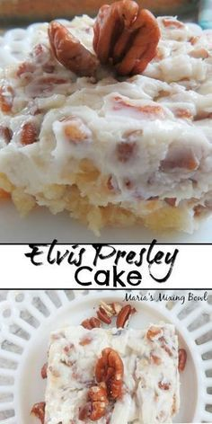Elvis Presley Cake also know as Jailhouse Rock Cake is a family favorite. So simple and easy to make. Elvis Presley Cake also know as Jailhouse Rock Cake is a family favorite. So simple and easy to make. Cake Mix Desserts, Cake Mix Recipes, Köstliche Desserts, Delicious Desserts, Amazing Dessert Recipes, Dessert Bread, Frosting Recipes, Health Desserts, Plated Desserts