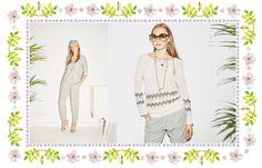 Linen knitwear with chevron intarsia.  luxury sportswear