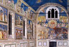 Cappella degli Scrovegni em Pádua  ative as legendas closed caption  A Cappella degli Scrovegni, também conhecida como Capela Arena é uma igreja em Pádua, na região do Vêneto, Itália.   Ela contém um ciclo de afrescos de Giotto, executada em 1305, que é uma das mais importantes obras-primas da arte ocidental.   A igreja foi dedicada a Santa Maria della Carità na Anunciação, 1303. O ciclo de afresco de Giotto enfoca a vida da Virgem e celebra seu papel na salvação humana.   A capela também é…