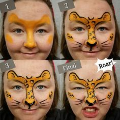 Cute and Easy leopard design- great for pay per face addition