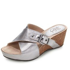 """PureSole™ """"Clearwater"""" Leather Wedge Platform Sandal 