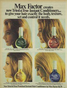 Max Factor Instant Conditioner Advertisement Ad March 1970 Vintage Retro