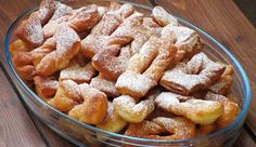 Taratuszki - pulchne, rosyjskie faworki na kefirze Sweet Desserts, Apple Pie, Macaroni And Cheese, French Toast, Breakfast, Cake, Ethnic Recipes, Fit, Internet
