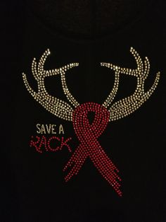 Breast Cancer Awareness Save A Rack Rhinestone Shirt