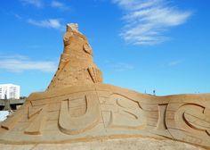 Brighton Sand Sculpture Festival - Musical Instruments by Ferguson Mulvany & Daniel Doyle.