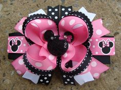 """Thank you for looking.  This Listing is for ONE hair bow.  This Set is perfect for every little princess.  The bows measure about 4.5-5"""" wide and"""
