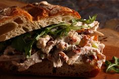 Chicken Salad Sandwich--made this for dinner last night...didn't really measure anything, forgot the thyme & olive oil and used plain greek yogurt instead of mayo...kids said they didn't like the celery...I think I'll leave it out next time...otherwise we liked it