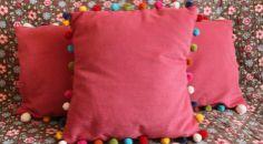Pom Pom Cushion Tutorial