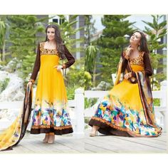 SENSUAL YELLOW ANARKALI SUIT