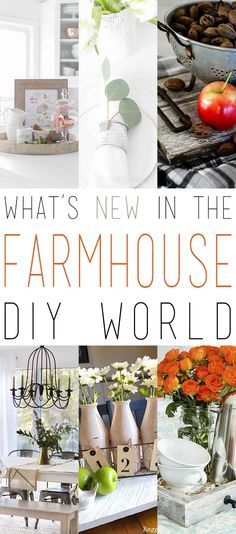 I know that you always love to see What's New In The Farmhouse DIY World…so today we have 9 Brand New DIY Farmhouse Projects that you are going to love.  Some of them are begging to be made for the Holidays and others will just be a perfect addition to your Farmhouse Home.  From a …