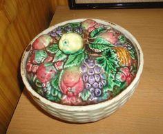 Сахарница блюдо с крышкой фарфор фаянс ЗиК Конаково 30-е годы СССР вазочка для варенья фрукты