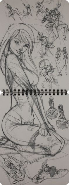 Mary Jane sketches by J. Scott Campbell