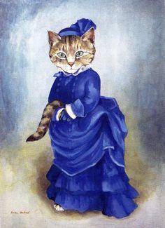 The Blue Lady (La Parisienne) Auguste Renoir by Susan Herbert