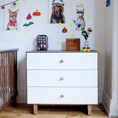 3 drawer dresser Rhea from OEUF nyc Boys Bedroom Furniture, Furniture Sale, Kids Furniture, Bedroom Decor, Furniture Removal, Kids Bedroom, Bedroom Ideas, Three Drawer Dresser, Dresser As Nightstand
