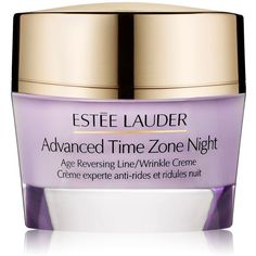 Estée Lauder Advanced Time Zone Age Reversing Night Crème ($78) ❤ liked on Polyvore featuring beauty products, skincare, face care, face moisturizers, filler, estée lauder, estee lauder face moisturizer and face moisturizer