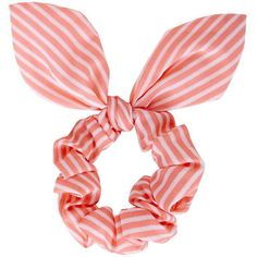 TOPSHOP Neon Stripe Scrunchie (30 ARS) ❤ liked on Polyvore featuring accessories, hair accessories, hair, coral, neon hair accessories, topshop, scrunchie hair accessories, hair bow accessories and white hair accessories