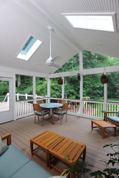 screened in porch ~ could be a awesome place to play cards when its raining