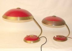"Art Déco - Bauhaus: German Art Deco ""Helo"" table lamps (set) - 1952"
