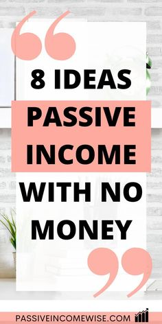Passive Income Opportunities, Passive Income Streams, Way To Make Money, Make Money Online, Extra Cash, Getting Things Done, Effort, Investing, Zero