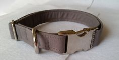 Light Gray Adjustable Dog Collar