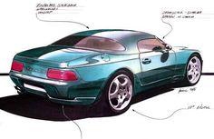 #Porsche 968 sketch | 1992 #TBT