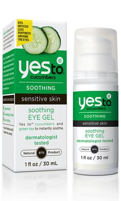 Yes to Cucumbers | Soothing Eye Gel for Sensitive Skin (Aloe Leaf Juice, Cucumber Fruit Extract)