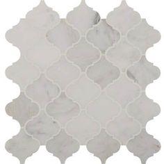 Marble Mosaics Greecia White Arabesque