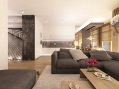 Projekt Wnętrza Mieszkania w kolorystyce monochromatycznej z dodatkiem amarantu w Warszawie na Ochocie - Tissu
