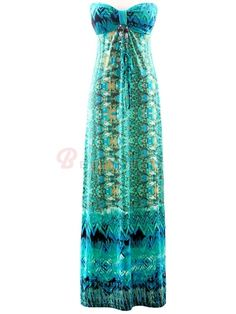 3f988589e9 Off Shoulder Sleeveless Halter Collar Bohemian Dresses Island Holiday on  buytrends.com Bohemian Dresses