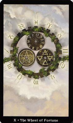 Wheel of Fortune - Steampunk Tarot