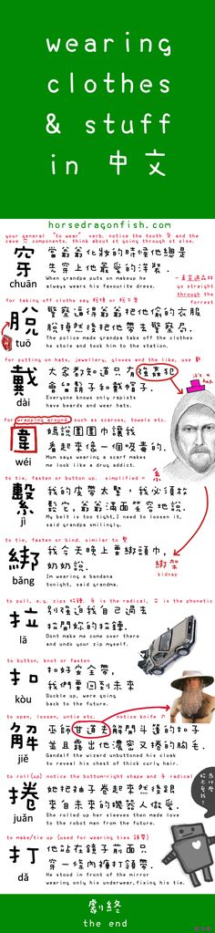 Wearing Clothes & Stuff in Mandarin Chinese