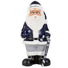 MLB New York Yankees Decorative Santa Holding cany cane and batting helmet NEW #NewYorkYankees #NewYorkYankees