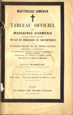 Tableau officiel des massacres d'Arménie par Fx Charmetant (1896)